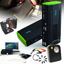 3-in-1 Mobile 12800mAh Power Bank Emergency Car Jump Starter Tire Compressor Kit