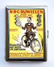 Dutch Bicycle AD Cigarette Case Wallet Business Card Holder id case Bike riders