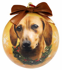 Dachshund (Red) Christmas Ball Ornament Dog Holiday Xmas Pet Lovers Gift