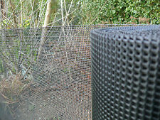 Garden Plastic Mesh Fence Plant Protection Dog Barrier 1m x 25m Black 5mm Holes