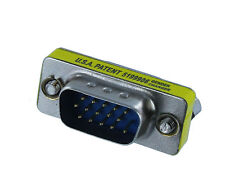 VGA HD15 Male to Female Mini Gender Changer Adapter(AH1512)