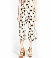 NWT Leith High Waist Animal Print Wide Leg Crop Women's Casual Dress Pants sz M