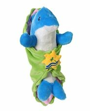 """Turquoise Dolphin Blanket Babies 11"""" by Fiesta"""