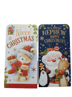Godmother Christmas Card Peel and Seal Envelope Teddy Stocking