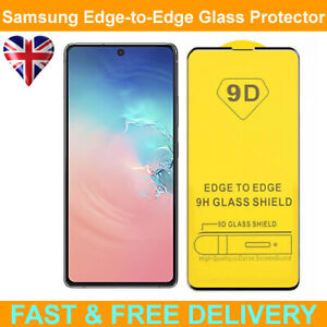 9D Edge to Edge Tempered Glass Screen Protector For Samsung Galaxy S10 Lite 2020