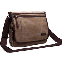 New Large Messenger Satchel Shoulder Travel Work School College Bag Black Colour
