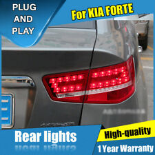 For Kia Forte Dark / Red LED Rear Lamps Assembly LED Tail Lights 2010-2013