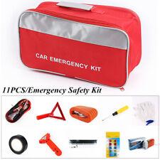 11PCS Vehicle Roadside Emergency Breakdown Safety Kit Portable Auto Car Tool Bag