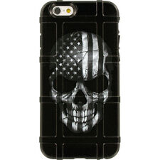 Magpul Field Case iPhone 6,6s,or 6 PLUS.Skull Black Sub. USA Flag Ego Tactical