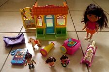 LOT OF - DORA THE EXPLORER TALKING HOUSE & ACCESSORIES TOYS