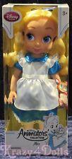 "Disney Animators' Collection 16"" Toddler Doll Alice in Wonderland New!"