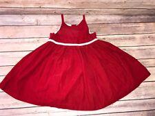 Baby Gap Toddler Girls 2T Red Corduroy Sleeveless Dress