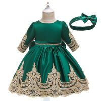 Girl Kids Vintage Lace Princess Dresses Fancy Evening Gown Party Dress Xmas Gift