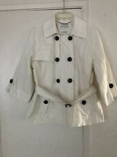 WHITE HOUSE BLACK MARKET DOUBLE BREASTED  TRENCH COAT  SIZE XL  EX/CON