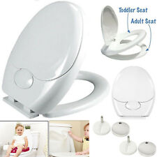Family Child Friendly Soft Close Toilet Seat Potty Training Top & Bottom Hinges