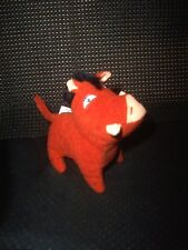 "Lion King Simba's Pride  PUMBA  Wart-hog  4"" Plush TOY 1998 McDonalds  (#206)"