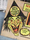 Original ANTIQUE vintage BEN COOPER HALLOWEEN MASK STORE Advertising SIGN Witch
