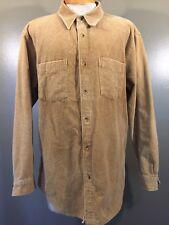 The Territory Ahead Corduroy Long Sleeve Shirt Men's XL LIGHT BROWN XL E4