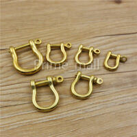 Solid Brass Carabiner Shackle Key Ring Chain Hook Joint Buckle Fob Keyring Hang