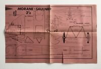 "AeroModeller UK Feb 1967 MORANE-SAULNIER 34"" Span Airplane Scale Model Plans"