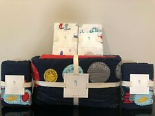 New Pottery Barn Kids Eric Outer Space Full/Queen Quilt, Std Shams, Pillowcase