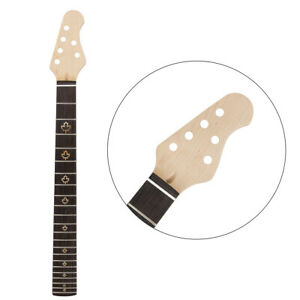 22 Frets Guitar Neck for Electric Guitar Parts Replacement 4R2L Bolt on Maple