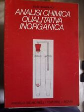 Scarano ANALISI CHIMICA QUALITATIVA INORGANICA ed. Signorelli 1985
