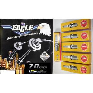 Black Eagle 7mm Ignition Leads & 6 NGK Standard Spark Plugs 76209-0 BKR5E
