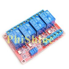 24V 4 Channel Relay Module With OPTO-Isolated High and Low Level Trigger