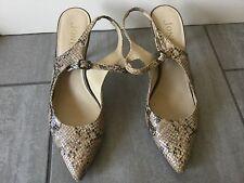 Jones Bootmaker Ladies Snake Skin Design Slingback Shoes Size 39 Good Condition