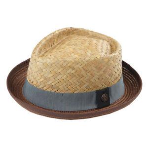 Milo Men's Women's Summer Retro Straw Porkpie Hat - Vietnam Straw