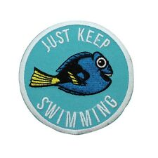 "Finding Nemo ""Just Keep Swimming"" Dory Patch DIY Kids Outfit Iron-On Applique"