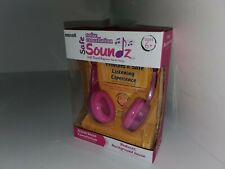 Maxell Kid Safe Soundz Noise Cancellation Wired Purple & Pink Headphones Age 6+