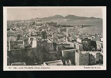 Spain Gran Canaria LAS PALMAS Puerto de la Luz c1950/60s? RP PPC