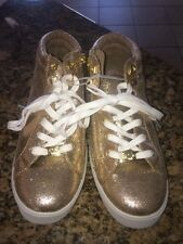 New Girl Size 5 Michael Kors Rose Gold High Top Sneaker Fits Adult 7.5M