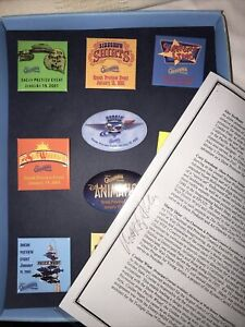Sneak Preview Disney California Adventure Buttons  Signed Marty Sklar Autograph