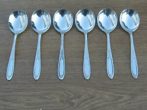 Soup Spoons Stainless Steel X 6