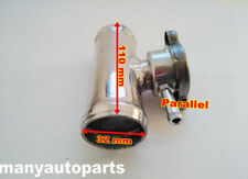 "New 32mm 1-1/4"" O.D Aluminum Inline Radiator Hose Pipe Filler Neck & Free Cap"