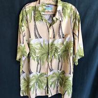 Reyn Spooner Hawaiian Shirt Aloha XL Palm Trees Beach