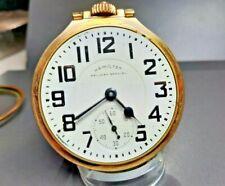 Good 16s 21 jewel Hamilton 992B Pocket Watch with Star #16 Case
