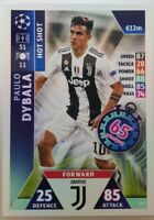 2019 Match Attax UEFA Soccer Card - Paulo Dybala Hot Shot Juventus #173