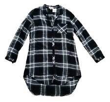 CLOTH & STONE Plaid Flannel HIPSTER Shirt Dress ANTHROPOLOGIE ( S )