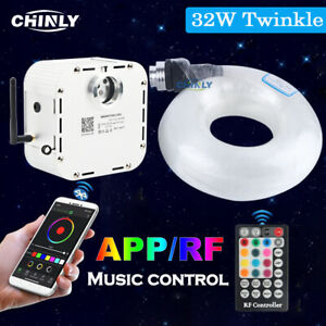 32W Fiber Optic Light APP Control Twikle Star Ceiling Lights 5m 400pcs LED Cable