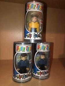 2002 Star Trek MiniMates Kirk Spock McCoy Khan Gorn Mugato by Art Asylum - New