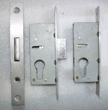 1 Riegel-Einsteckschloss PZ 30mm a.Dorn. VA ktg. Stulpl. 155mm und 20mm breit