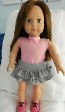 "Gotz Puppe Doll 18"" cloth & Vinyl brown hair , Blue Eyes"