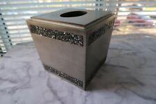 Omni Tissue Box Holder Boutique Pewter Silver New Stone Effect Metallic