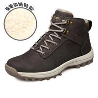 Mens Snow Boots Outdoor Winter Sneakers Warm Shoes Fur Inside Hiking Booties NEW