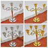 Modern 3/5 Arms Candle Holder Metal Crafts Candelabra For Home Wedding Decor