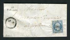 Rare lettre de Saint Séverin pour Angoulême ( 1855 ) - Cursive 15 St Séverin